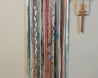 Bohemian Yarn Tapestry, Yarn Wall Hanging, Southwestern