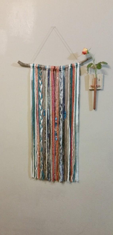 Bohemian Yarn Tapestry Yarn Wall Hanging Southwestern
