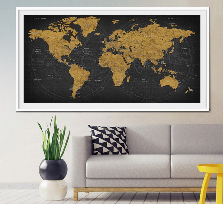 Family map art – Family World Travel Map
