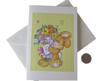 Mum's Flower Bunch Card. Mother's Day Card, Card for Mother, Decoupage Card
