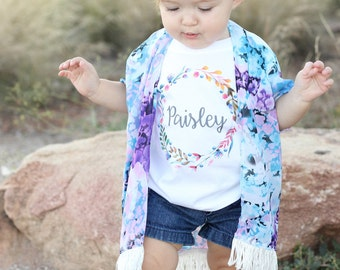 Custom Baby Girl Onesie, Baby Girl Coming Home Outfit, Custom Girl Shirt, Monogram Baby Girl, Newborn Girl Outfit, Personalized Onesie