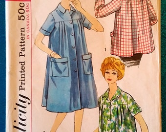 """Vintage 1950's smock sewing pattern - Simplicity S170 - size 14 (34"""" bust) - 1950's"""