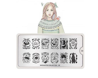 MoYou-London Nail Stamping Plate Enchanted Collection 02