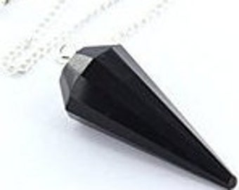 Tourmaline Pendulum-Healing Crystals and Stones used for Protection, Amulet Stone