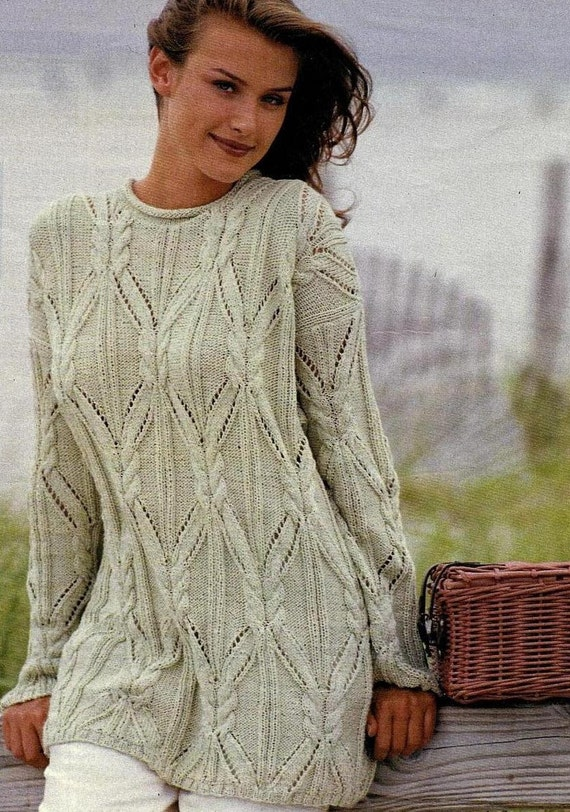 Instant PDF Download Vintage Chart Knitting Pattern to ...