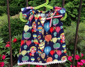 Ballons Baby girls dress, Baby Girl Peasant Dress, cotton dress, Summer dress, Birthday dress, Kids dress, children, toddler, gift idea