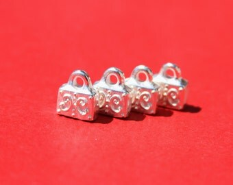 6/2 MADE IN EUROPE 2 metal cord ends, flat cord ends, 9mm cord end, 9mm end caps(X6001SP) Qty2