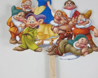 Snow White Cake Topper theme, Birthday Cake Topper, Party Decoration, FAST Shipping