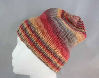hats; fall colors hat; women's hats; hand knit hats; knit hats; stretchy hats; woman's hat;