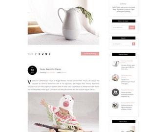 Responsive Blogger Template - Premade Template - Clean Minimalist Design -  Pastel Blog Design - Fashion Blog - Modern -Blogspot