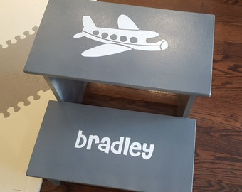 Personalized Kids Step Stool - Full custom design and colors