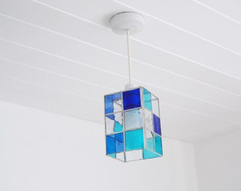 Rectangular Stained Glass Lamp Shade