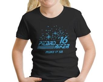 Star Trek Inspired Picard Riker 2016 Girls' T-Shirt