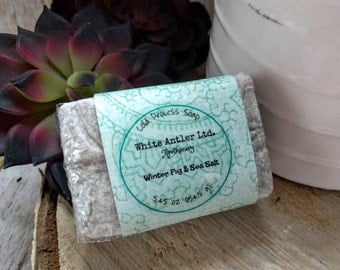 Winter Fig & Sea Salt soap - cold process, artisan, exfoliating, handcrafted soap, men's gift