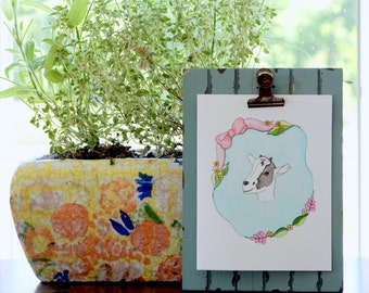 Goat note card set,  goat watercolor print, baby goat