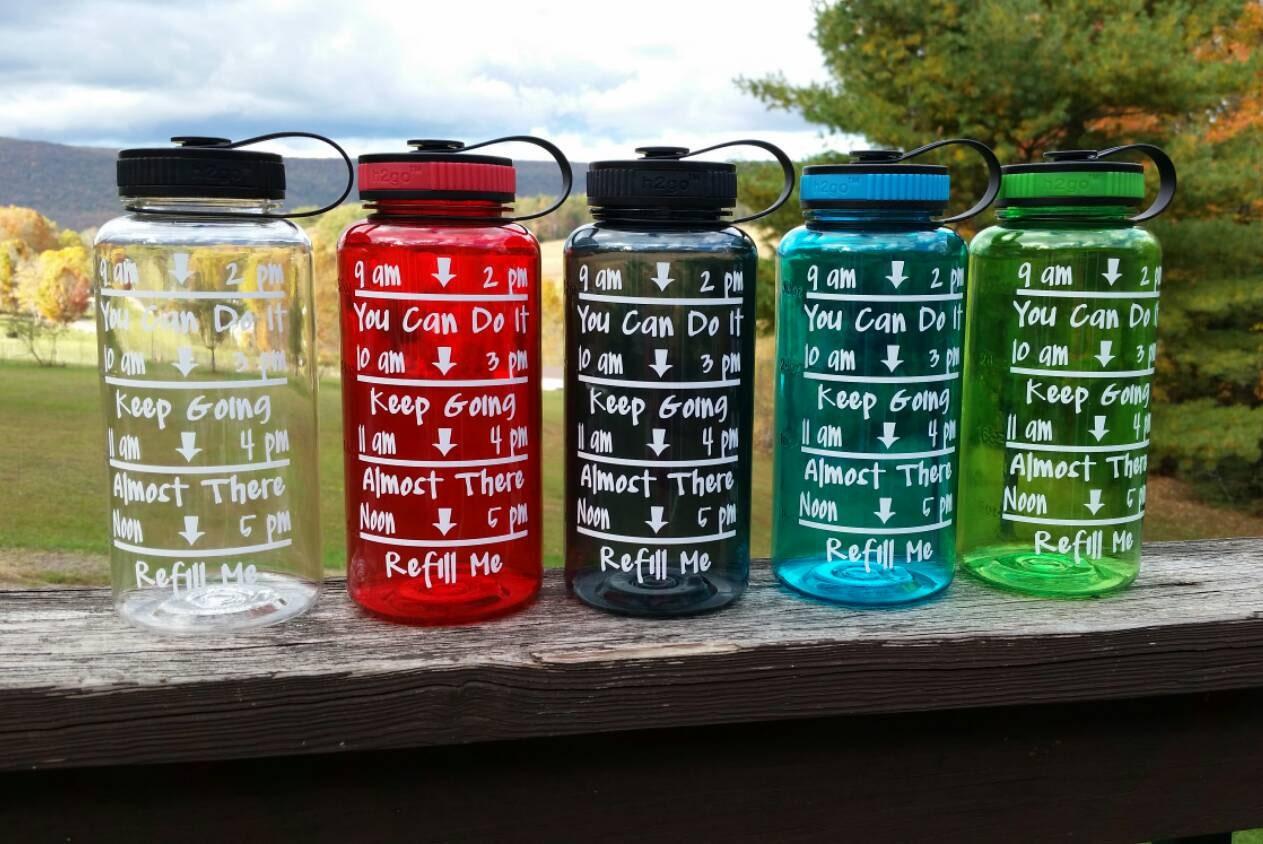 Motivational Water Bottle 34 Oz Water Bottle Water