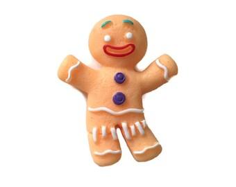 Gingerbread Man Brooch Shrek Gingerbread Man Inspired Christmas Cookie Brooch or Fridge Magnet
