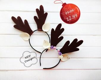 Costume accessories, Costume ears, Costume party, Deer horns, Horns, Felt ears, Cosplay ears, Christmas headband, Christmas ears, Felt horns