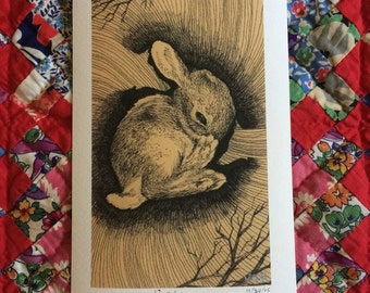 Little Rabbit One- First Edition Giclee Print