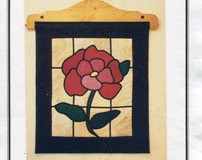 Free Usa Shipping Craft Pattern Dinah's Quilts & Accents Stained Glass Rose Quilt Sewing Pattern