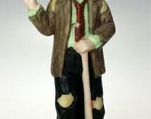 Emmett Kelly Golfer Bisque Porcelain Clown Ornament Figurine MIB Flambro 9675