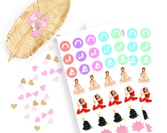 Yogae sticker, life planner sticker for kikki k, filofax or erin condren