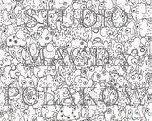 Adult Colouring Page 101 Elephants. Cute Creatures. Cute Colouring