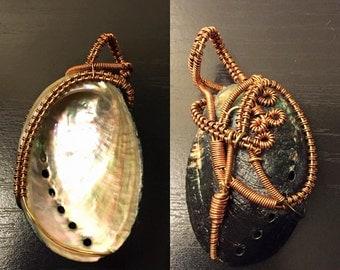 Reversible Abalone Pendant