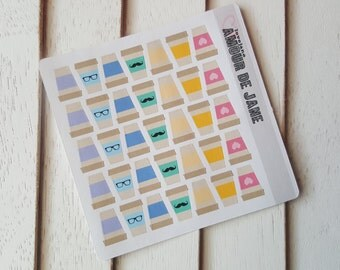 Rainbow Coffee Cup Stickers