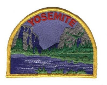 Yosemite National Park Patch - El Capitan and Half Dome - The Valley, California (Iron on)