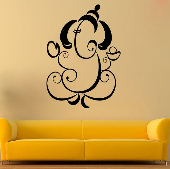 Ganesha Wall Sticker Ganesha Vinyl Decal Hindu Vinyl Decals