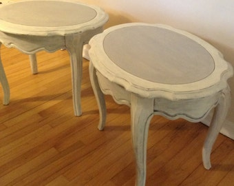 SOLD: Pair of French Provincial End Tables or Side Tables