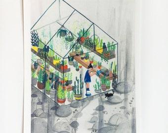 Green House, Dream House Print