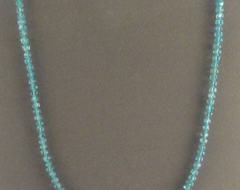 "16"" Apatite & Sterling Silver Beaded Necklace"