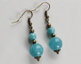 Romantic aquamarine earrings