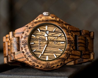 Personalized Gifts For Men, Engraved Wood Watch, Groomsmen Gift, Boyfriend Gift, Gift ideas for husband, Anniversary Gift, Birthday Gifts