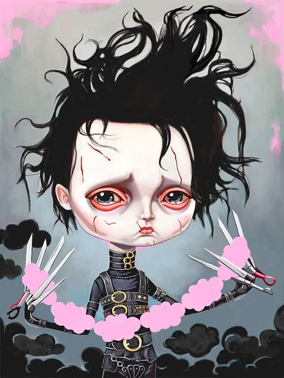 an analysis of edward scissor hands by tim burton Directed by tim burton with johnny depp, winona ryder, dianne wiest, anthony michael hall a gentle man, with scissors for hands, is brought into a new community after living in isolation.
