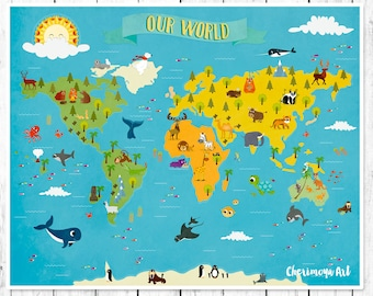 Animal World Map X In X In X In Animal - Wprld map