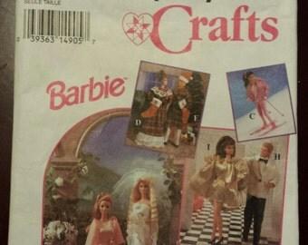 Barbie Wardrobe Pattern Uncut Simplicity 8797,  1994, Barbie, Ken and Friends