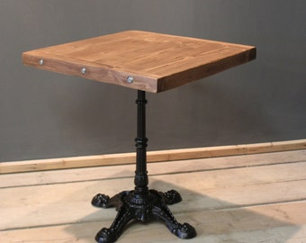 Table, Bistro Cafe / Kitchen Table, Handmade Rustic (The Horam)