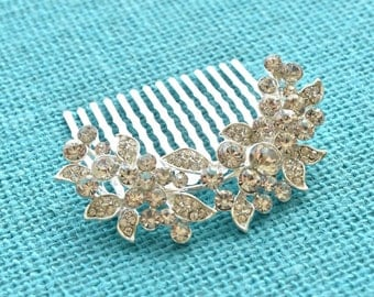 SALE! 30% OFF Crystal Silver Wedding Hair Accessories Bridal Rhinestone Hair Comb Wedding Headpieces