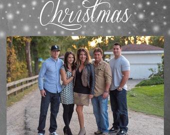 Merry Christmas! - Printable Photo Christmas card template