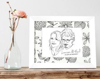 Custom couple portrait - VERSION PREMIUM Valentine