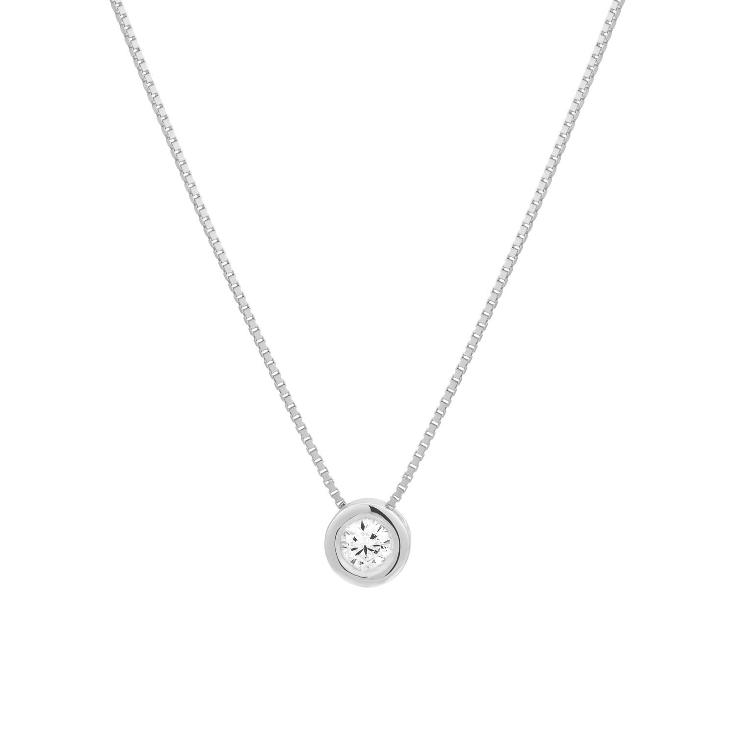 solitaire diamond necklace round diamond necklace dainty. Black Bedroom Furniture Sets. Home Design Ideas