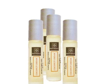 Coconut Cream|Perfume Oil-Roll On Perfume, Womens Perfume, Teen Perfume, Gifts For Her, Scented Body Oil, Coconut Scent