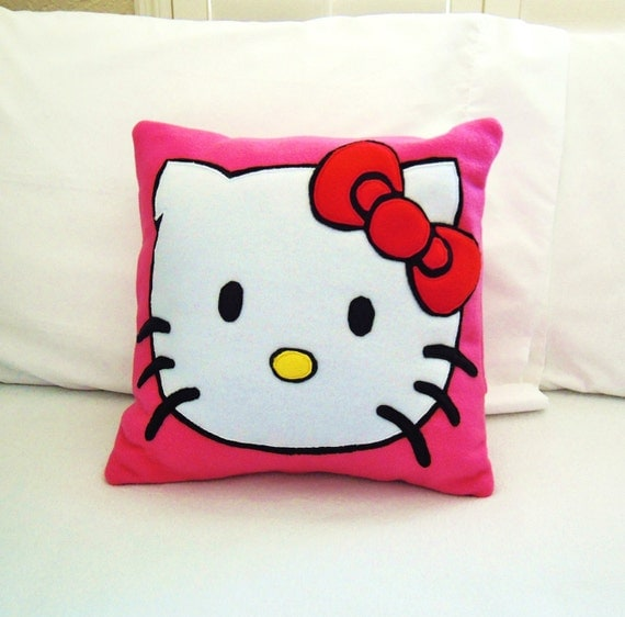 Hello Kitty Fleece Throw Pillow