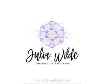Watercolor Coaching Logo Mindfulness Logo Therapy Logo Abstract Logo Design