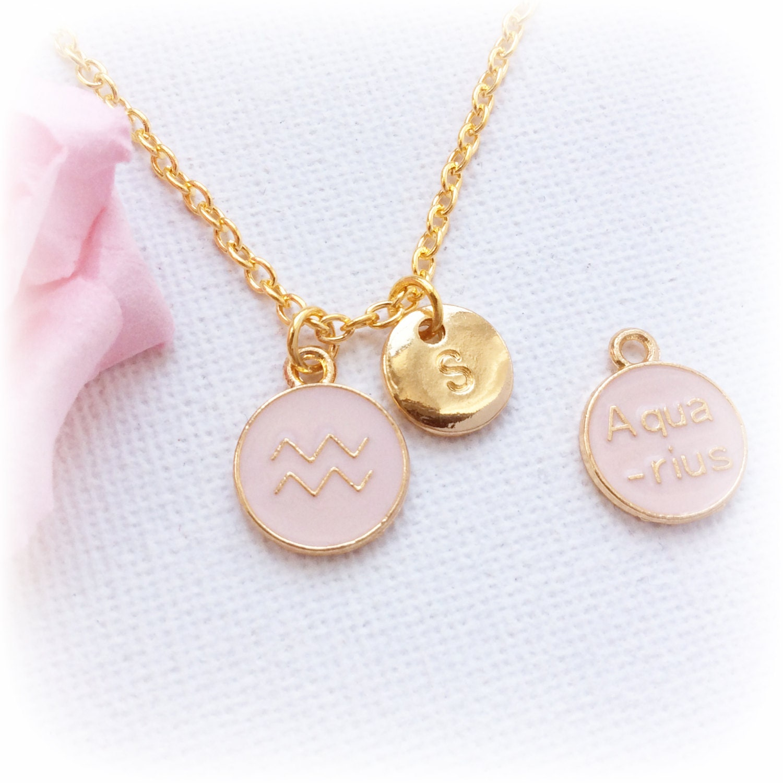 aquarius zodiac sign astrology necklace by statementmadeuk