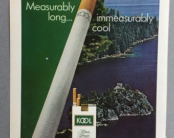 1970 Kool Cigarettes Print Ad