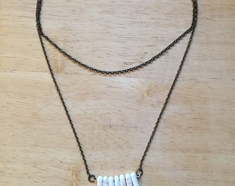 Spike Bead Layering Chain Necklace
